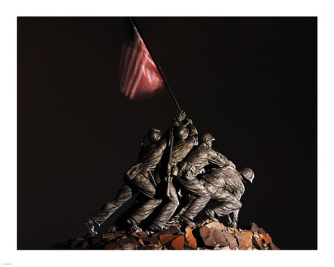 Framed Iwo Jima Memorial I Print