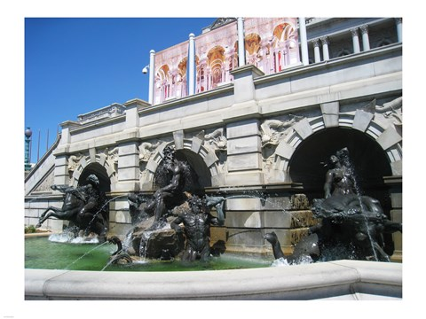 Framed Library of Congress Court of Neptune Fountain Washington DC Print