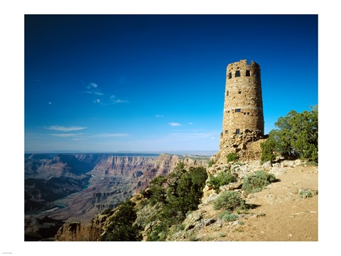 Framed Arizon'a Grand Canyon Watch Tower Print