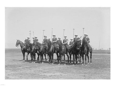 Framed Police Show Polo Team Print