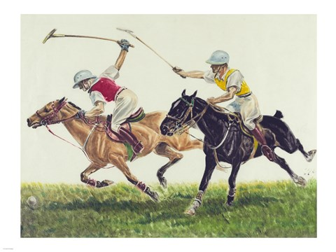 Framed Polo action Print