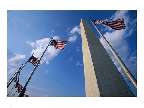 Framed Low angle view of the Washington Monument, Washington, D.C., USA Print