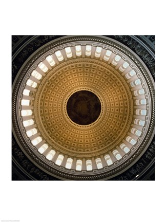 Framed Architectural details of the cupola of the rotunda of a government building, Capitol Building, Washington DC, USA Print