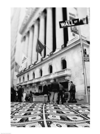 Framed Wall Street Print