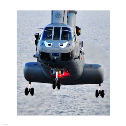 Framed Marine CH-46E helicopter Print