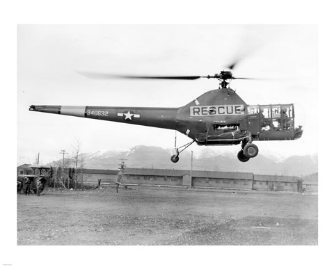Framed Alaska, 17 May 1947, 10th Rescue Squadron helicopter Print