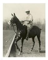 M.J. Waterbury, polo player  Fine Art Print