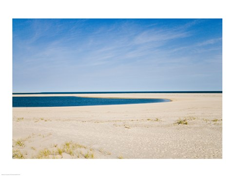 Framed USA, Massachusetts, Cape Cod, panoramic view of beach Print