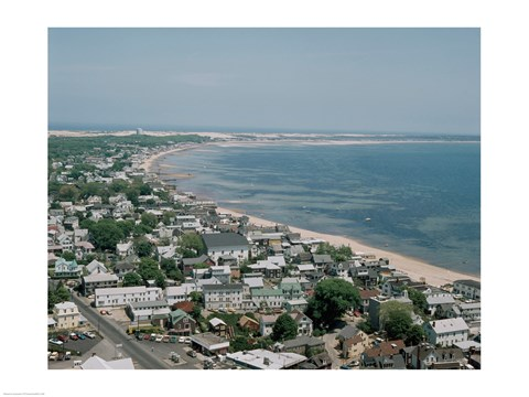 Framed USA, Massachusetts, Cape Cod, Provincetown, townscape Print