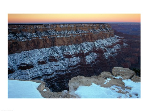 Framed South Rim Grand Canyon National Park Arizona USA Print