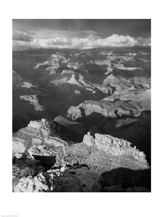 Framed Grand Canyon with Clouds Print