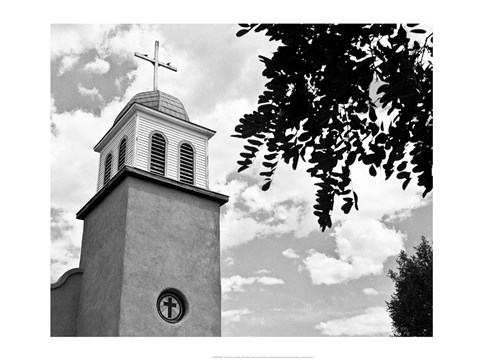 Framed Church of Los Cerrillos Print