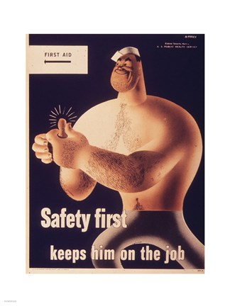 Framed Safety First Print