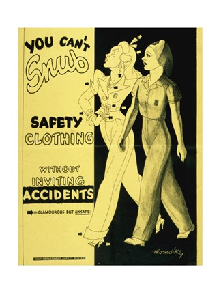 Framed Safety Clothing Print