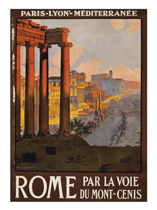 Framed Rome Vintage Travel Print