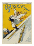 The lost ski  Fine Art Print
