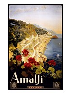 Amalfi, travel poster  Fine Art Print