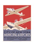 New York City municipal airports, 1937  Fine Art Print
