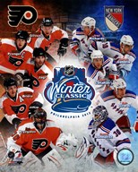 2012 NHL Winter Classic Composite - Flyers/Rangers Match Up  Fine Art Print