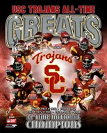 USC Trojans All Time Greats Composite  Fine Art Print