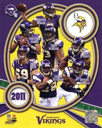 Framed Minnesota Vikings 2011 Team Composite Print