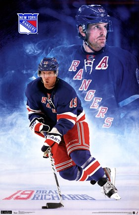 Framed NY Rangers® - B Richards 11 Print