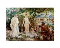 Judgment of Paris he goddesses Athena, Hera and Aphrodite  Fine Art Print