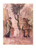 La punizione di Amore Aphrodite Pompeii mural  Fine Art Print