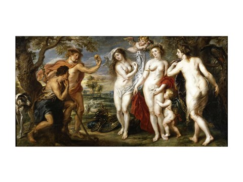 Framed Peter Paul Rubens the judgement of Paris Print