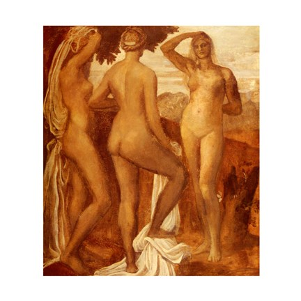 Framed Watts George Frederic The Judgement Of Paris Print