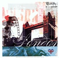 London Stamps - Mini  Fine Art Print