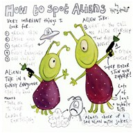 How to Spot Aliens  Fine Art Print