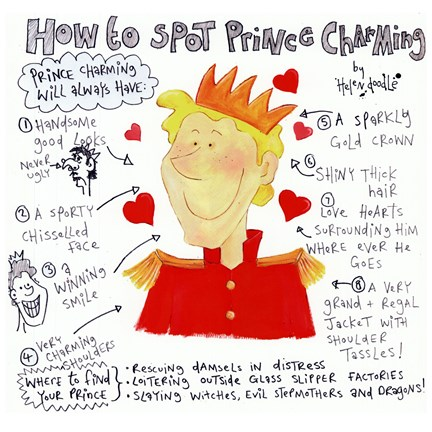 Framed How to Spot Prince Charming Print