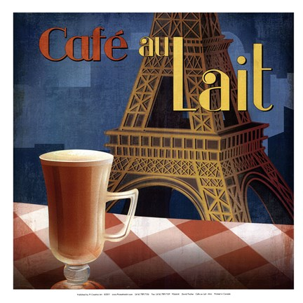 Framed Cafe au Lait - mini Print