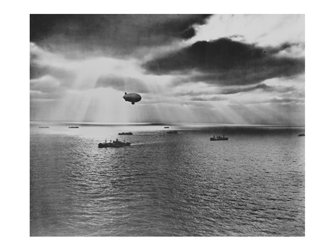 Framed U.S. Navy Blimp Print