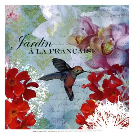 Jardin francais mini fine art print by natalie alexander for Jardin francais
