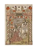 Nativity Scene with Depiction of Trinity Art