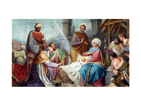 Framed Adoration of the Shepherds and the Magi Print