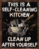 Self Cleaning Kitchen  Fine Art Print