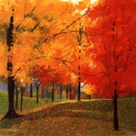 Bright Autumn Day II  Fine Art Print