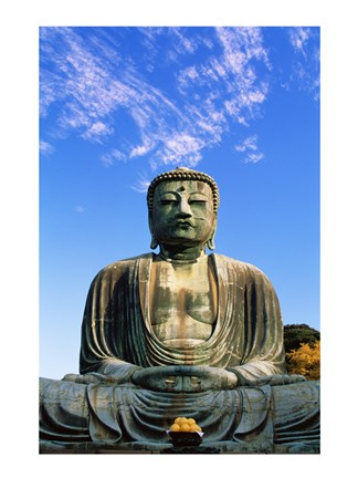 Framed Low angle view of a statue of Buddha, Daibutsu Tokyo, Japan Print