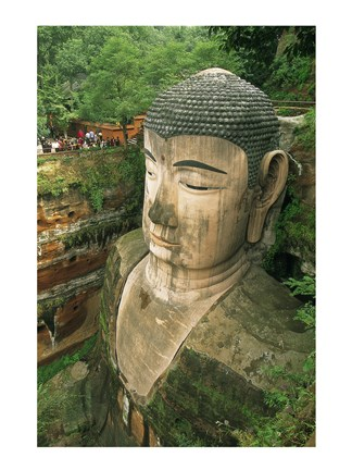 Framed Giant Buddha Statue, Leshan, China Print