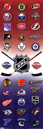 Framed Door - NHL® Logos 11 Print