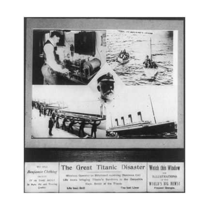 Framed Great Titanic Disaster Print