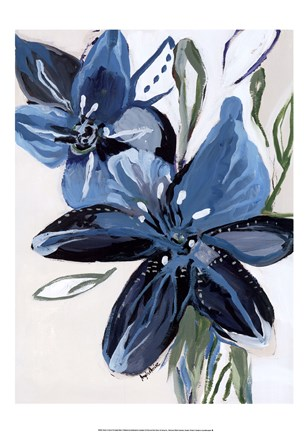 Framed Flowers of Azure II Print
