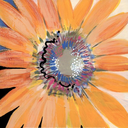 Framed Sunshine Flower IV Print