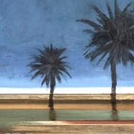 Coastal Palms I  Fine Art Print