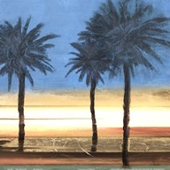 Coastal Palms II  Fine Art Print