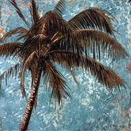 Palm on tourquoise I  Fine Art Print