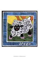 Whimsical Sheep Art